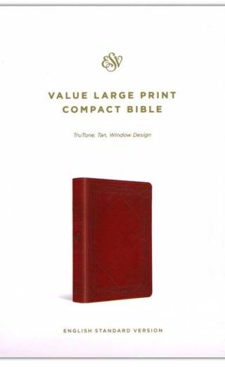 Esv Value LP Compact Bible TT Tan Window Design